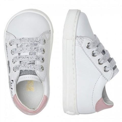 Falcotto Atley VL-Sneaker con Stampe-Bianco